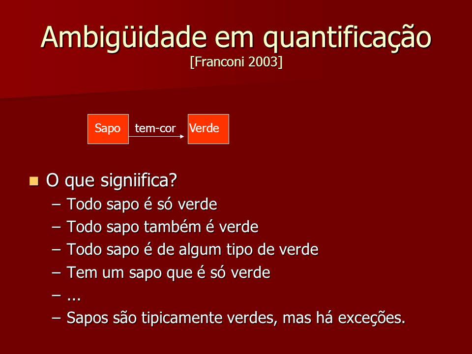 Ambigüidade em quantificação [Franconi 2003]